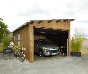 Abris garage abri garage en for Garage en bois 20m2